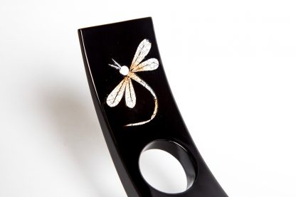 Dragonfly wooden lacquer wine bottle holder