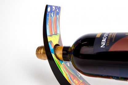 Party-time wooden lacquer wine holder