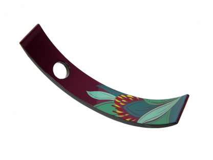 Purple lily wooden lacquer wine holder