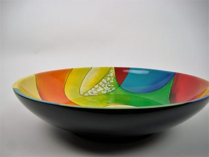 Picasso wooden lacquer serving bowl