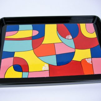 Picasso wooden lacquer serving tray