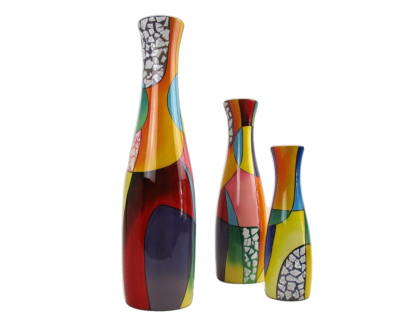 Picasso wooden lacquer vases