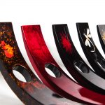 Wooden lacquer wine holders