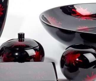 Red and black splash