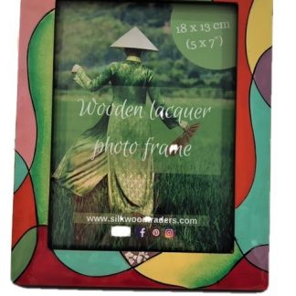 Picasso wooden lacquer photo frame